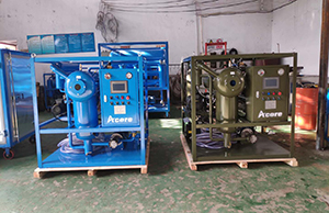 Two Sets DVTP-50(3000LPH) Transformer Oil Purifiers Sales to Thailand Electrics Industrial