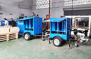 MTP20 Mobile Transformer Oil Purifier Mounted on Trailer Sales to VietNam Northern Power Company